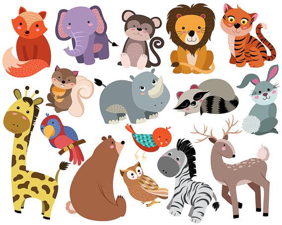 Cute Animals Clip Art.