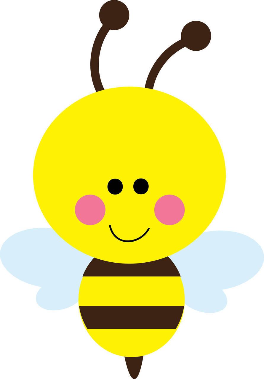 Cute Bumble Bee Clip Art N8 free image.