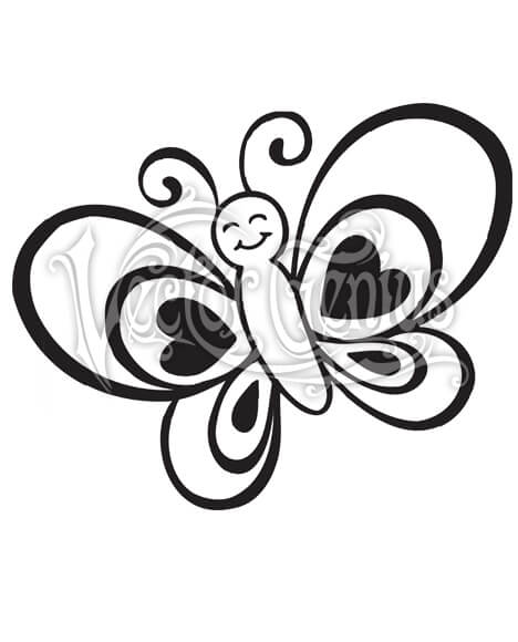 High Resolution Cute Butterfly Kid Drawing Adorable Clip Art Stock Art.