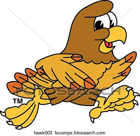 Cute Hawk Clipart.
