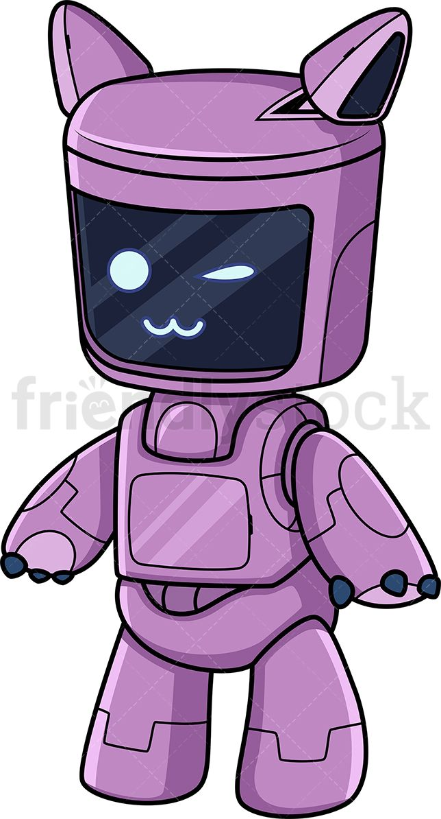 Cute Purple Robot in 2019.