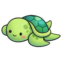 Cute Clipart Turtle.