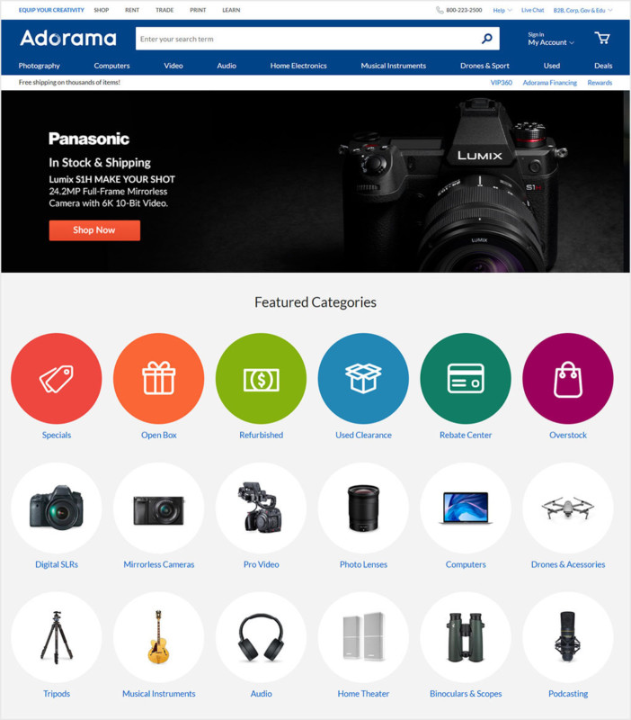 Adorama Launches Revamped Logo and Website Design.