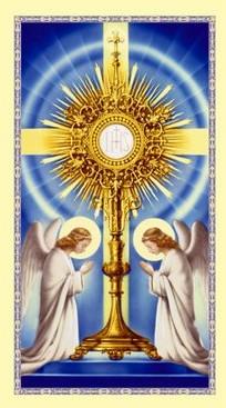 Eucharistic adoration clipart.