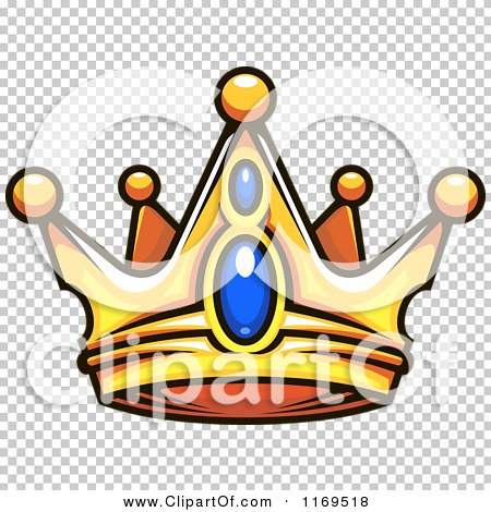 Clipart of a Gold Crown Adorned with Sapphires.