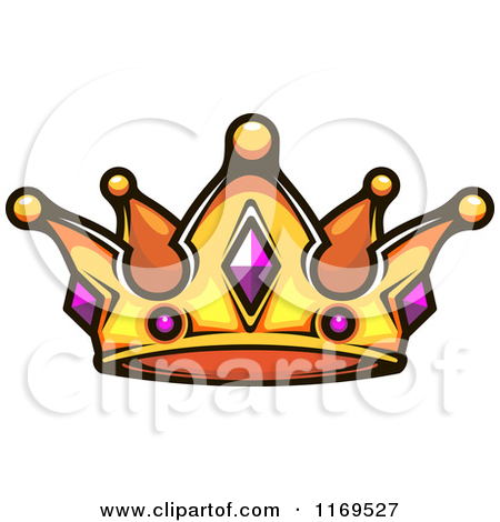 Clipart of a Gold Crown Adorned with Gems.