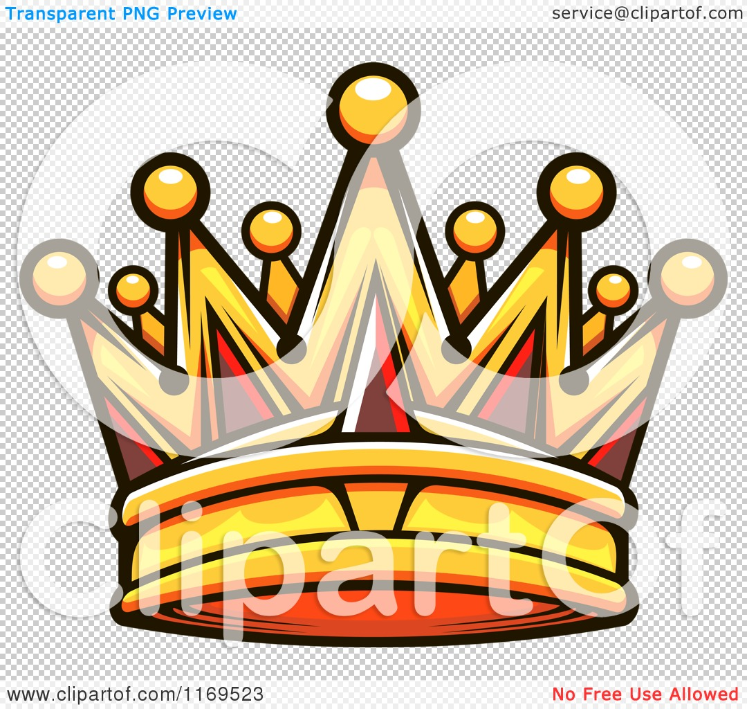 Clipart of a Gold Crown Adorned with Rubies 3.