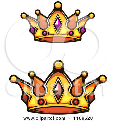 Clipart of Crowns Adorned with Gems.