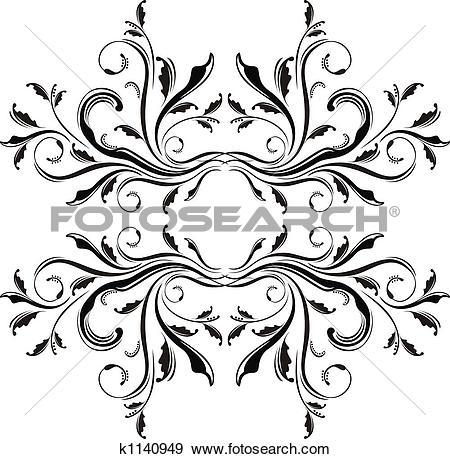 Stock Illustration of adornment frame k1140949.