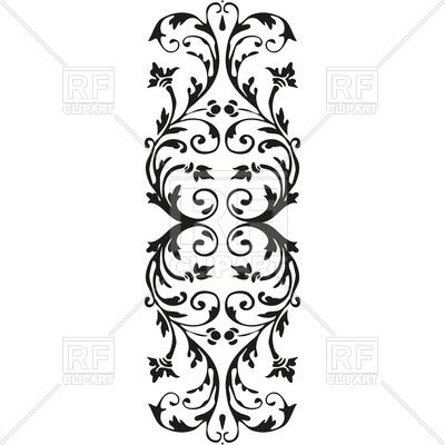 Adornment black floral decoration Vector Image #119360.