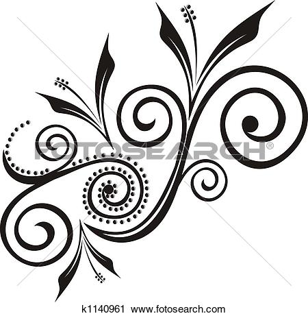 Clipart of adornment floral k1140961.