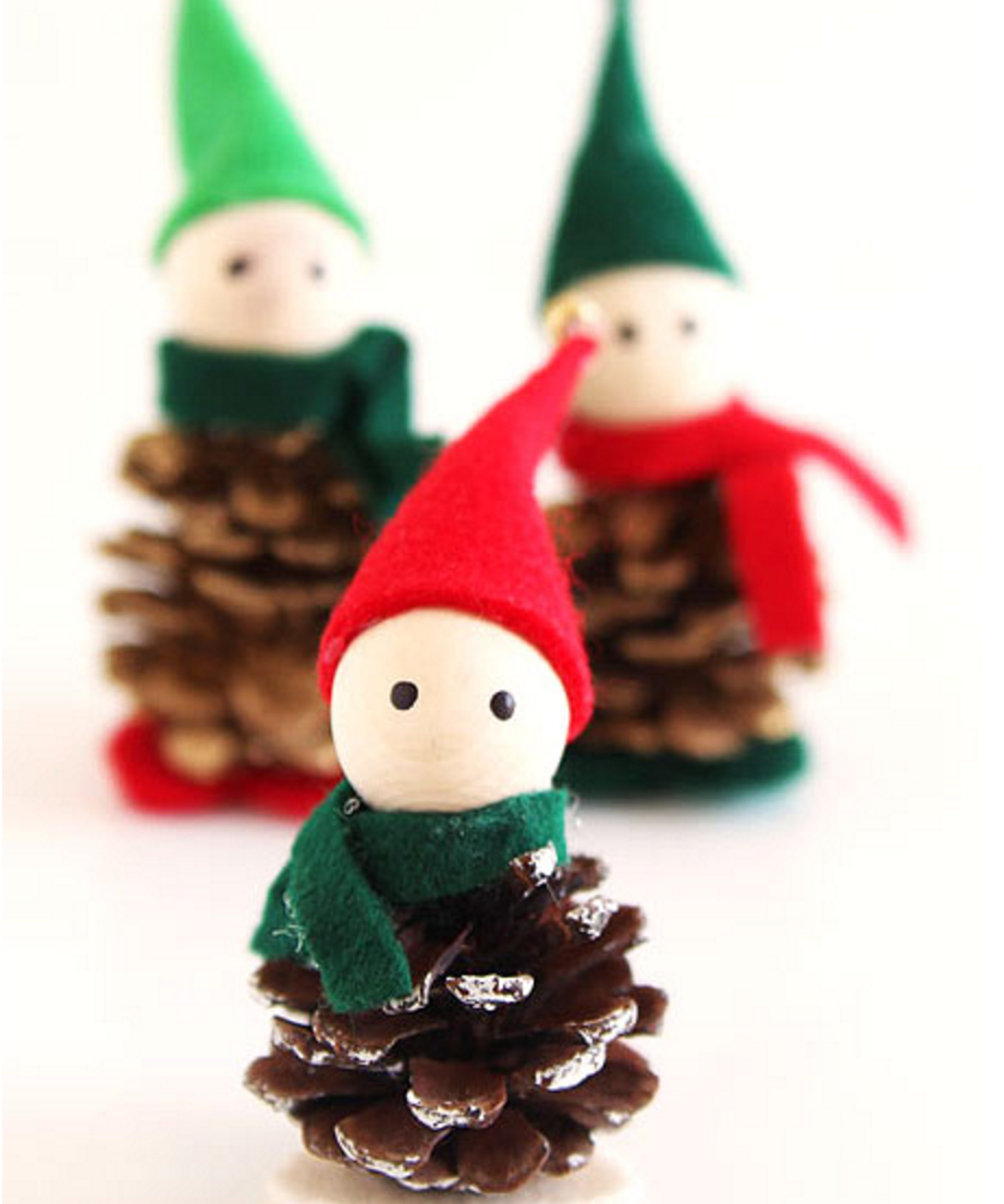 6 adornos diy de Navidad para hacer con los niños.