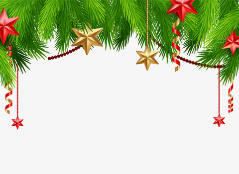Christmas star ornaments PNG clipart.