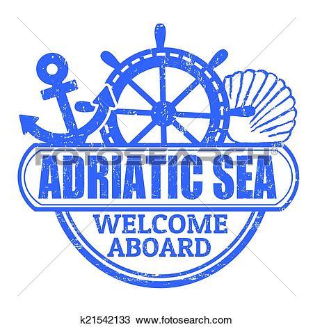 Clipart of Adriatic Sea stamp k21542133.
