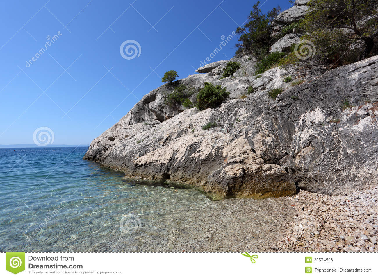 Adriatic Coast In Croatia Royalty Free Stock Image.