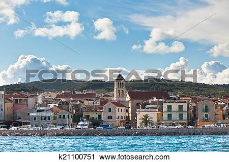Stock Photography of Vodice is a small town on the Adriatic coast.