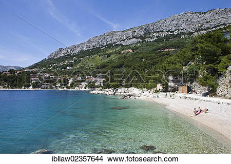 "Stock Photo of ""Bay of Stomarica, Brela, Makarska Riviera."