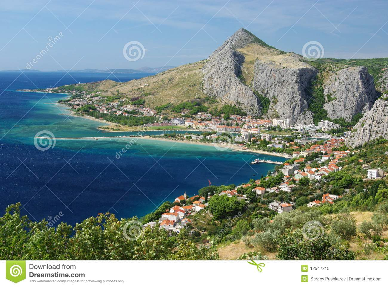 Adriatic Coast Royalty Free Stock Photo.
