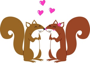 Couple In Love Clipart Image.