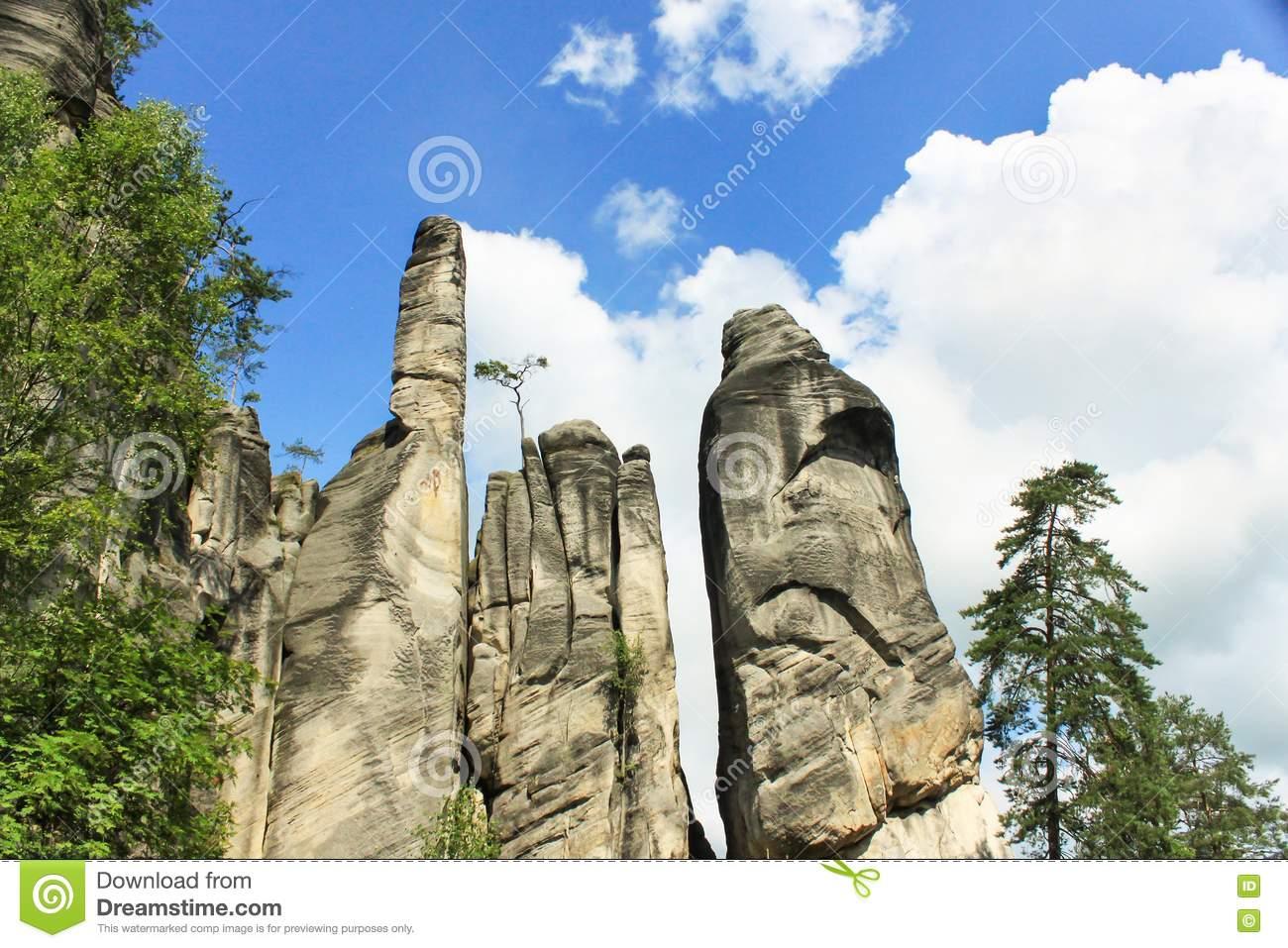 View Of The Sandstone Pillars. Teplice.