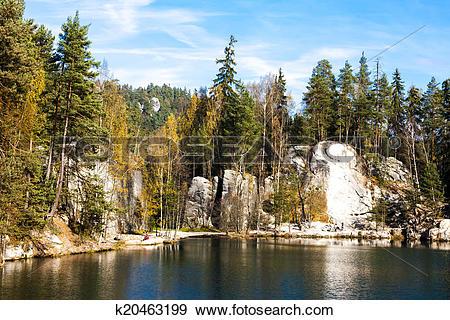 Stock Photograph of Piskovna lake, Teplice.