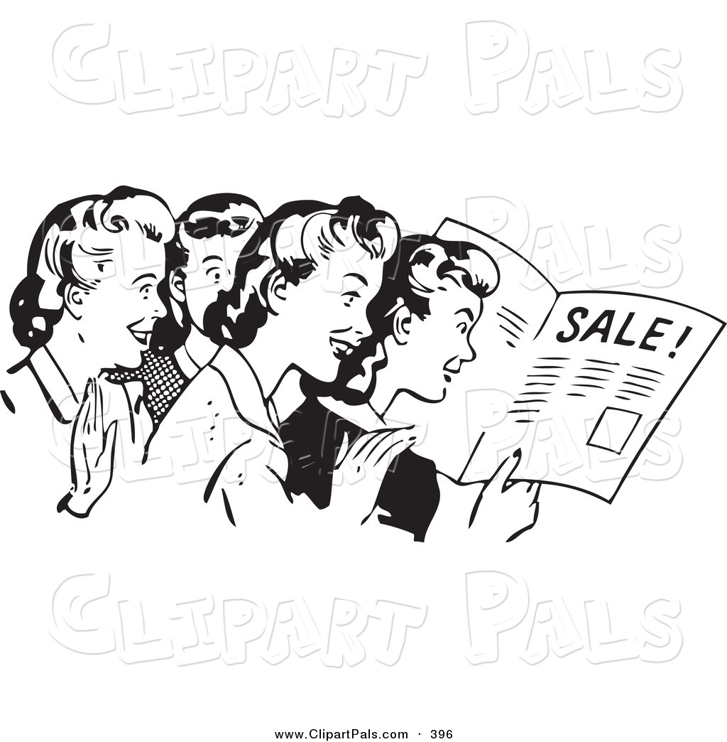 Advertising clipart black and white, Advertising black and.