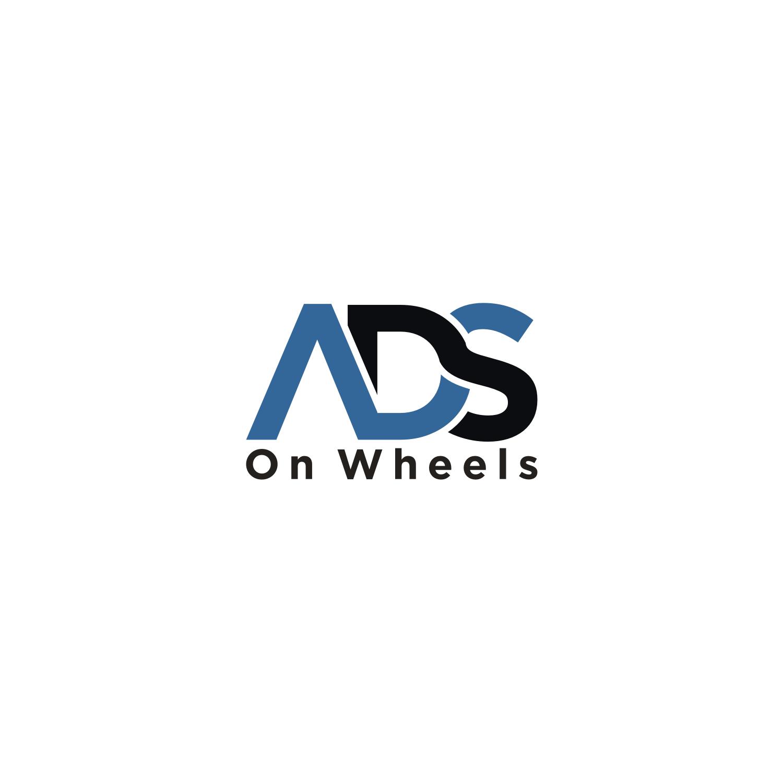 Modern, Upmarket, Advertising Logo Design for Ads On Wheels.