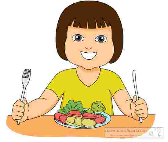 Cliparts Library: Child Eating Healthy Foods Clipart Eating.