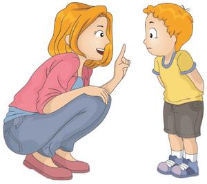 Parent Talking To Child Clipart.