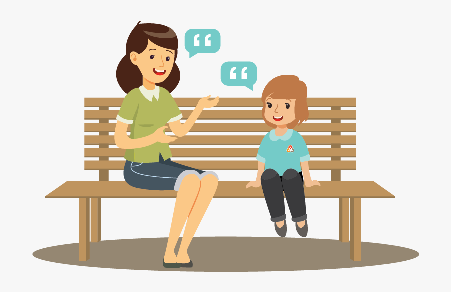 Adult And Child Talking Clipart , Free Transparent Clipart.