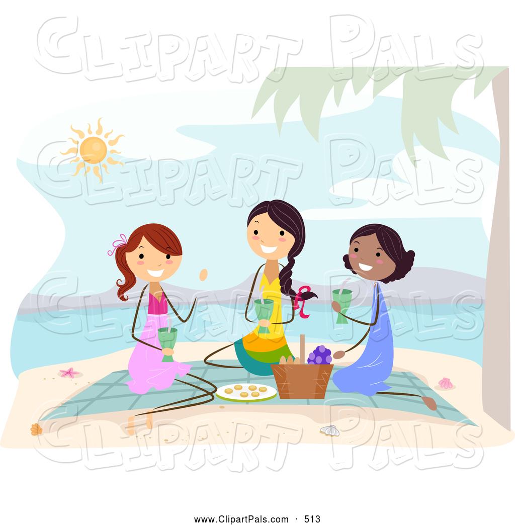 Beach Picnic Clipart.