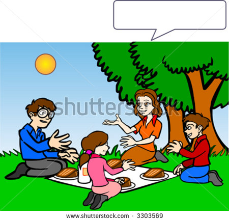 Picnic With Family Clipart.