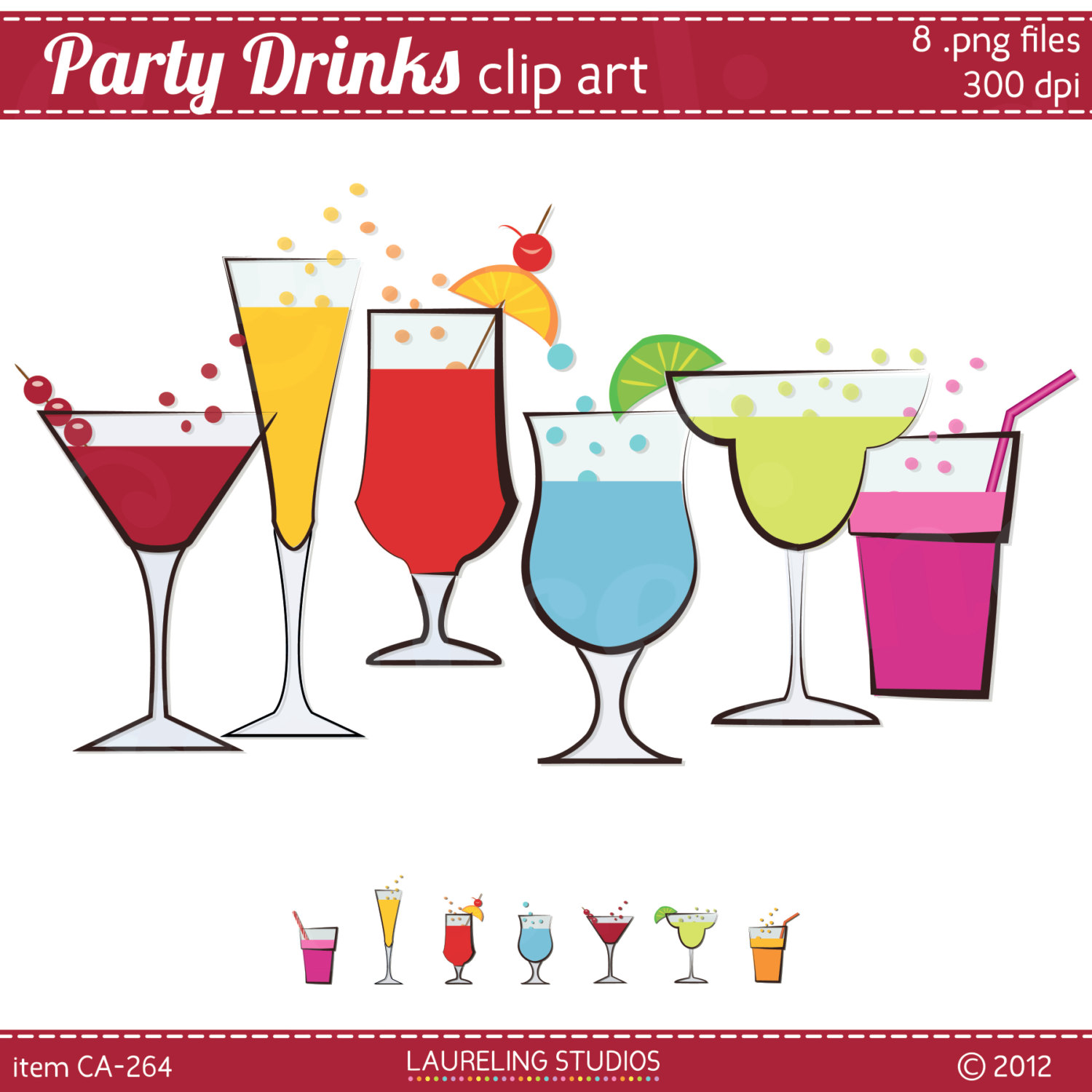 Party drinks clipart.