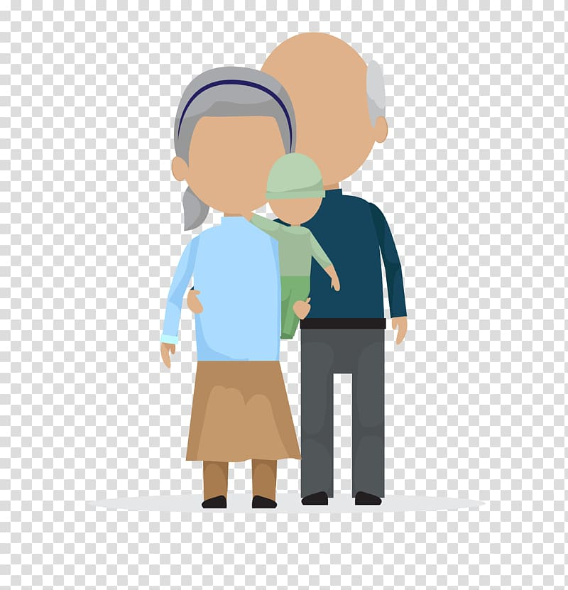 Old age, cartoon adult child transparent background PNG.