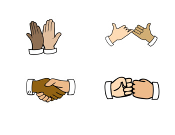 Fist Bump Clip Art & Worksheets.