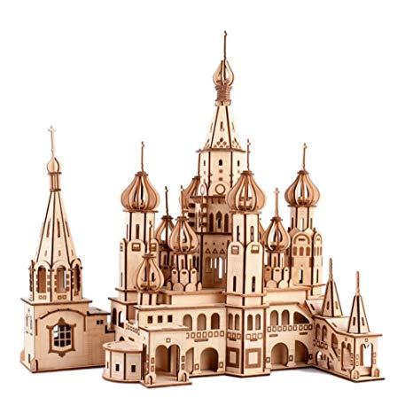 Amazon.com: Healifty Woodcraft Construction Kit 3D Wooden.