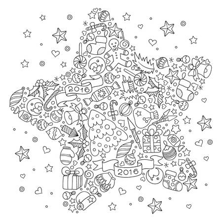 1,769 Adult Coloring Pages Christmas Cliparts, Stock Vector And.