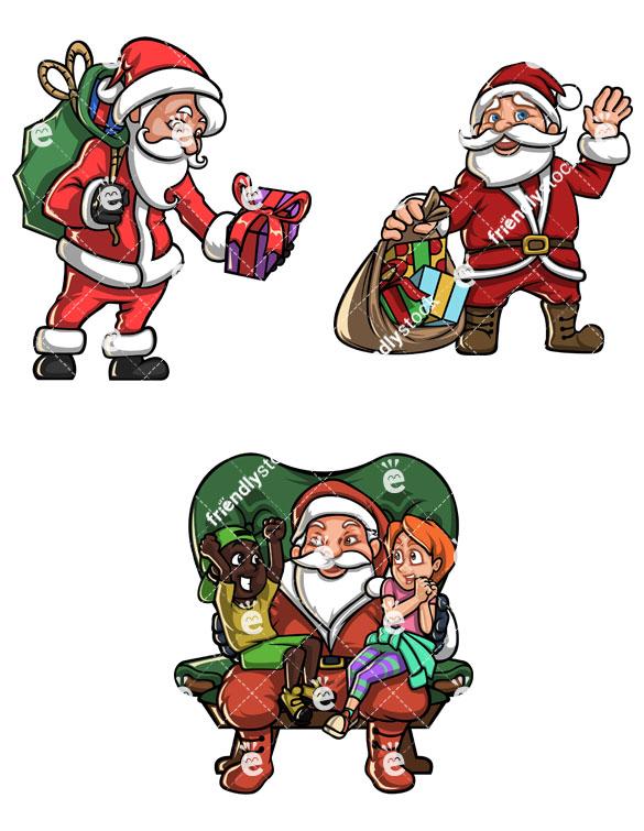 Vintage Santa Claus Collection.