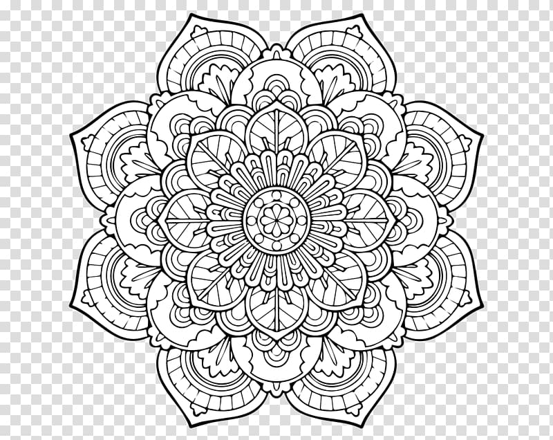 Mandala Coloring book Adult Page Child, purple pattern with.