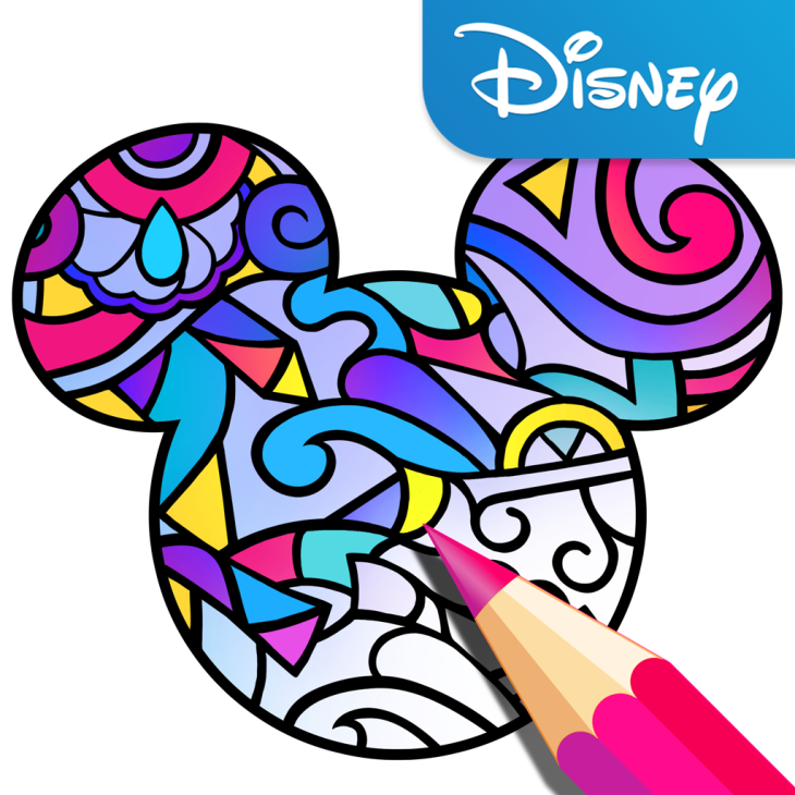 Disney launches its own adult coloring book app.