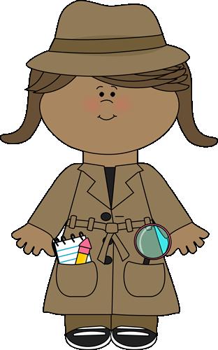 Woman Detective Clipart.