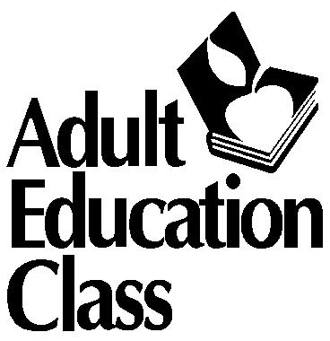 Adult Education Classes Term 2.