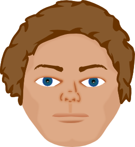 Young Man Face Clip Art at Clker.com.