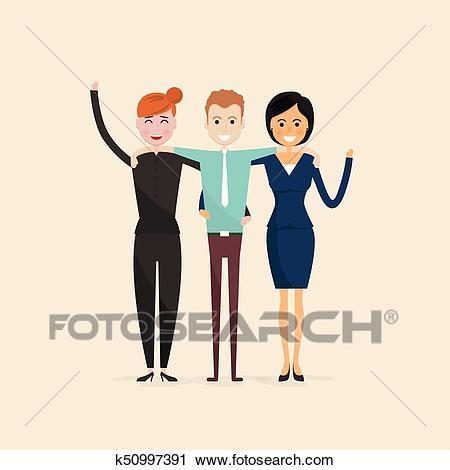 Adult, Men, Women, Three best friends. Happy smiling young man and woman  friends. Happy best friends meeting. Happy triple icon. Happy friends icon..