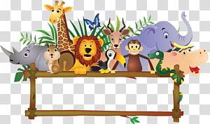 Baby Jungle Animals Cartoon , ANIMAl transparent background.