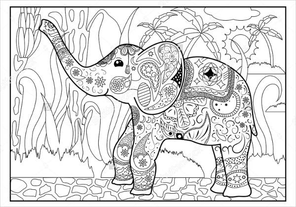 Jungle Coloring Pages For Adults.