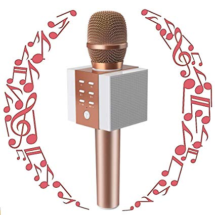 TOSING Wireless Karaoke Microphone, Bluetooth Karaoke Singing Machine with  Speaker, Birthday Home Party for Smartphones,Christmas/ Birthday Gifts.