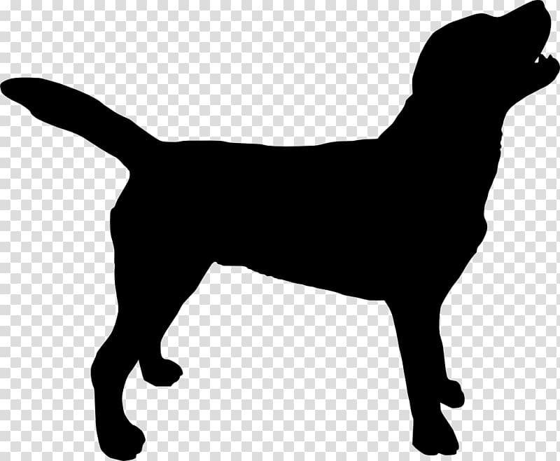 Silhouette of dog, Labrador Retriever Silhouette Puppy.