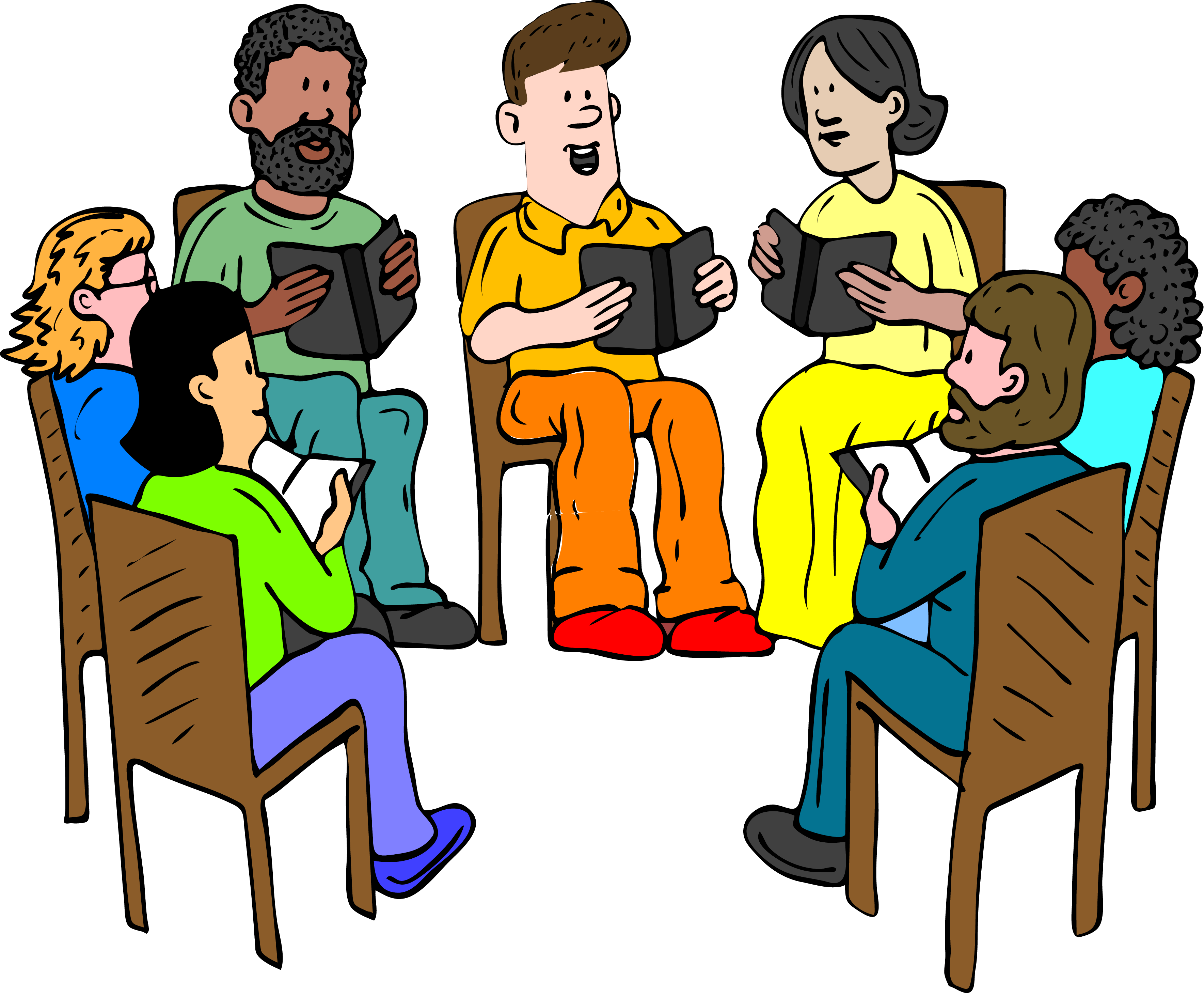 Book Group Clipart.