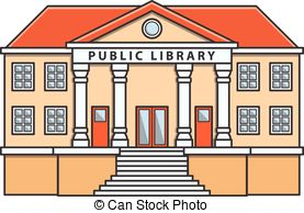 Public library. bookcase. books and knowledge. vector.